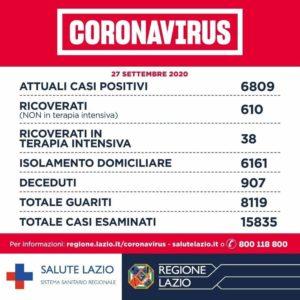 Regione Lazio Coronavirus