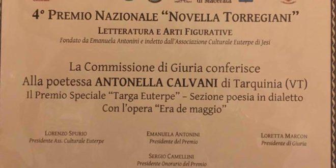 Antonella Calvani - il premio